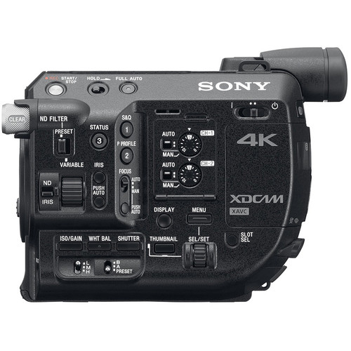 Sony FS5 No Lens Side View