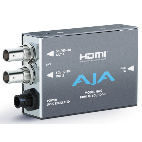 AJA HDMI to SD/HD-SDI HA5 Video and Audio Converter