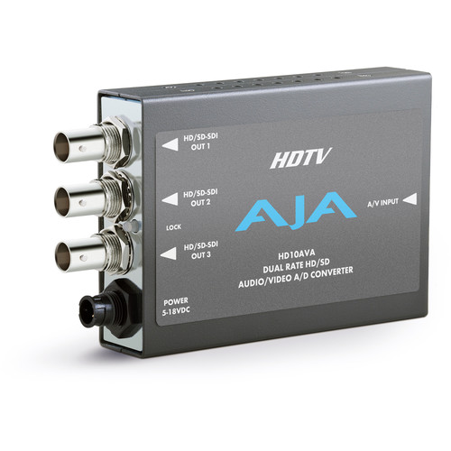 AJA HD10AVA HD/SD Audio/Video, Analog/Digital Mini-Converter