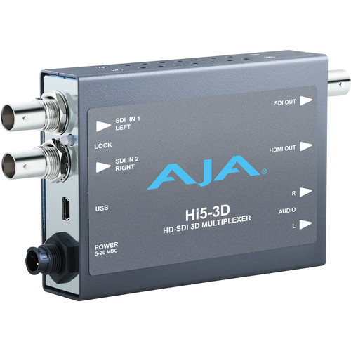 AJA Hi5-3D Dual HD-SDI to HDMI 3D Multiplexer Mini-Converter