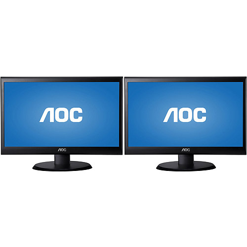 Pair of AOC Wide Screen Displays