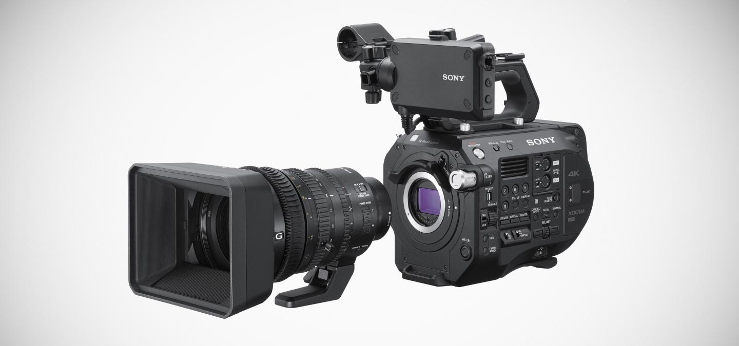 Sony FS7 II Home Page Slider