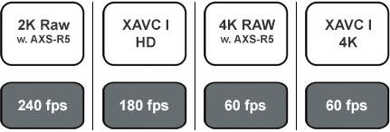 Sony F55 240 FPS Chart