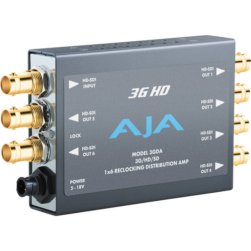 AJA 3G HD - 1x6 3G/HD/SD Reclocking Distribution Amplifier