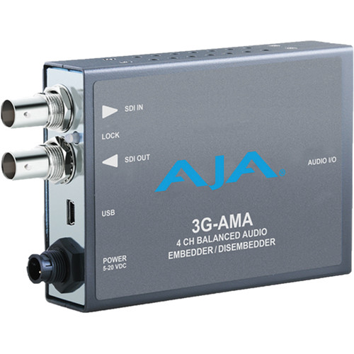 AJA 3G-AMA 3G-SDI 4-Channel Analog Audio Embedder/Disembedder Mini-Converte
