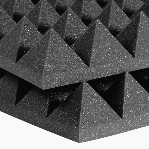 "Auralex 4"" Studiofoam Pyramid-24 (Charcoal Grey) - 24"" x 48"" x 4"" Acoustic Absorption/Diffusion Panel - 6 Pieces"