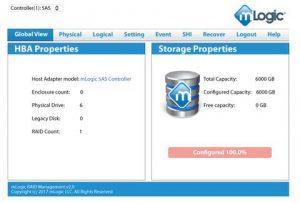 mRack DIT RAID Management Screenshot
