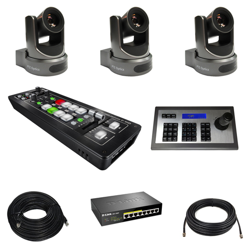 Z-Live - PTZ Three-Camera All-In-One HD Live Production Kit