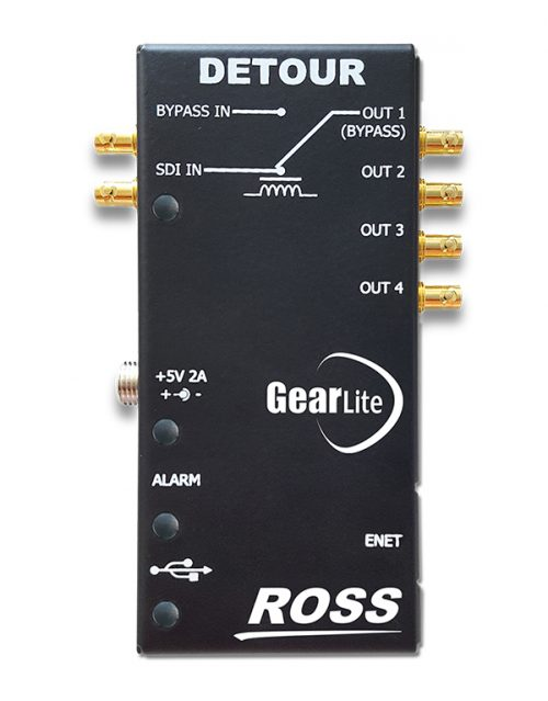 Standalone, high speed relay bypass with integrated 1x4 DA