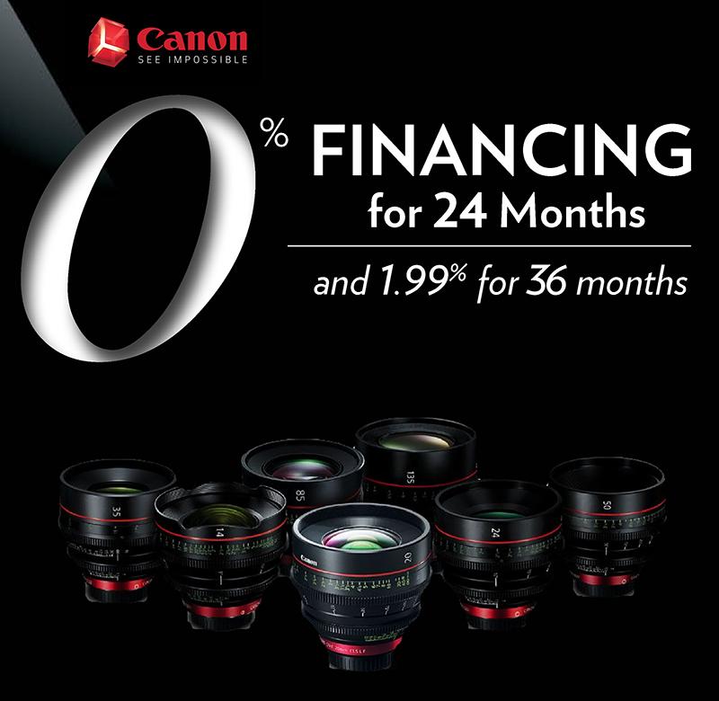 Canon 0% Sale